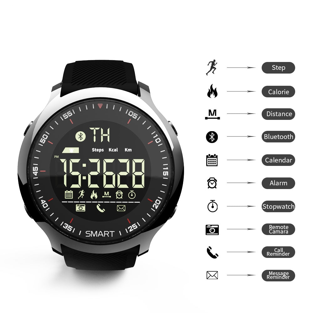 Waterproof Bluetooth Smartwatch with Pedometer