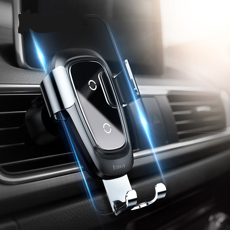 Qi Wireless Charger Car Phone Gravity Holder for iPhone Samsung Mobile Phone