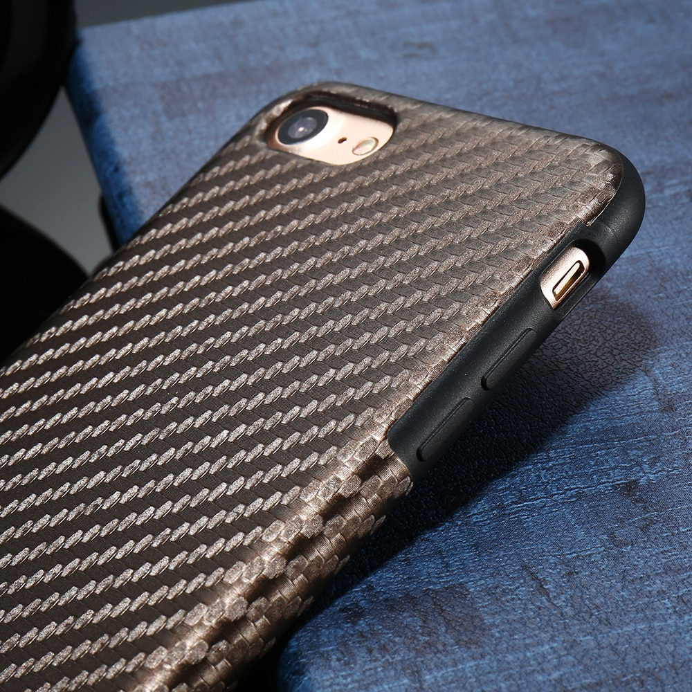 Carbon Fiber Twill Skin Phone Case For iPhone X XS Max 5 5S SE For iPhone X 6 6S Plus Hybrid Soft TPU Cover Accessories