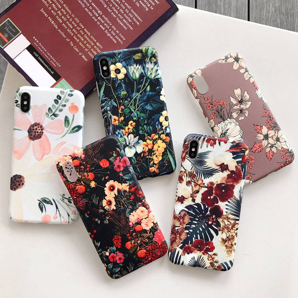 KISSCASE Retro Flower Case For iPhone 6 6S 7 Plus 8 Plus High Quality Vintage TPU Floral Phone Case For iPhone XS MAX XR X Cover