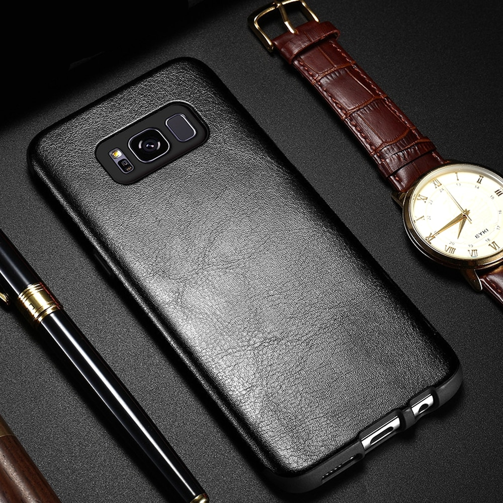 Texture Leather Case For Samsung Galaxy S10 S9 S8 Plus S10E Cover For Samsung S8 S9 Retro Case Coque Fundas
