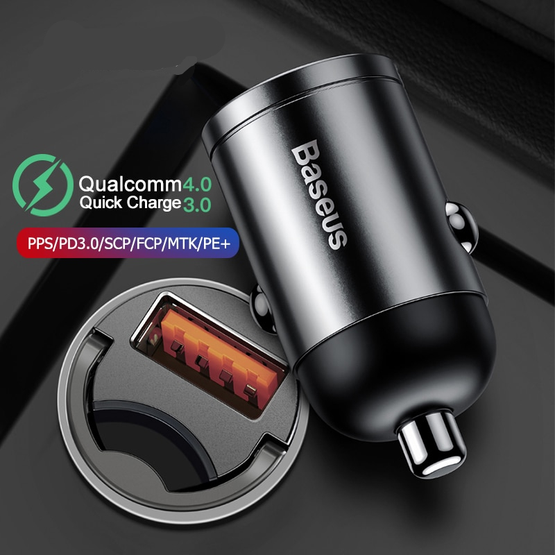 Quick Car Charger For Mobile Phone QC4.0 QC3.0 Type C PD 3.0