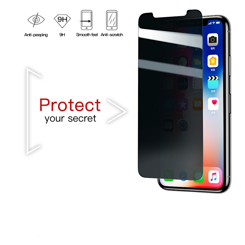 0.3mm Anti Privacy Screen Tempered Glass for iPhone 8 7 Plus 3D Safety Protective Tempered Glass for iPhone 7 8 Glass