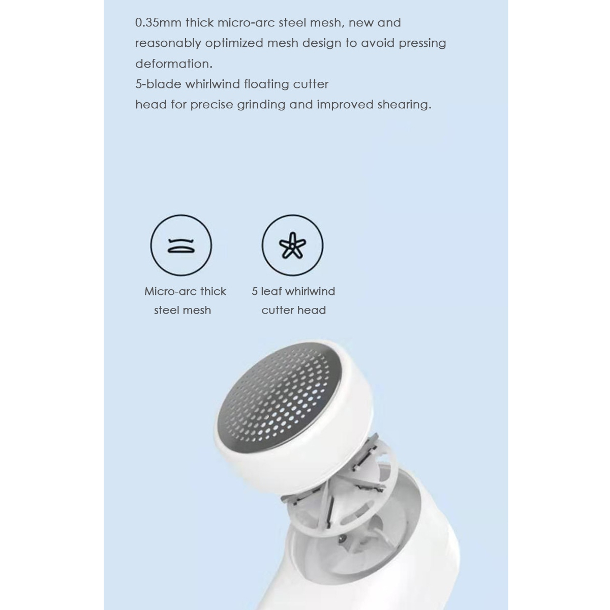 Xiaomi Mijia Portable USB Lint Remover 0.35mm Micro Arc Shaving Mesh Fuzz Trimmer 1300mAh Electric Clothes Sweater Fabric Shaver