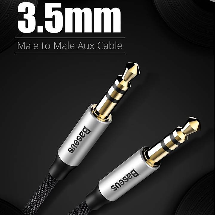 Baseus Aux Cable for earphone Headphone Car Aux 3.5mm jack Audio Cable for iPhone 6 Xiaomi redmi 5 4x Oneplus 5t MP3 Player
