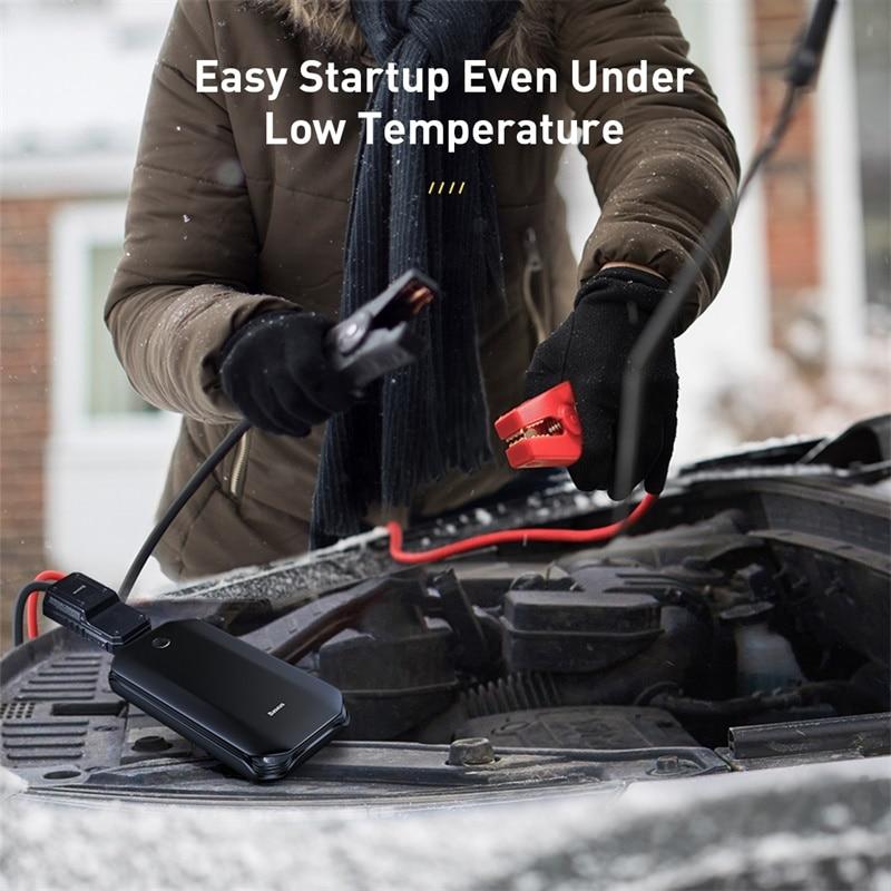 Car Jump Starter Battery Power Bank Portable 12V 800A Vehicle Emergency for 4.0L