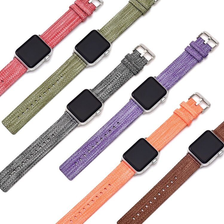 Canvas Nylon Watch Band for Apple Watch Band Nylon 38mm 42mm 40mm 44mm Sports Bands For Iwatch Series 4 3 2 1 Strap