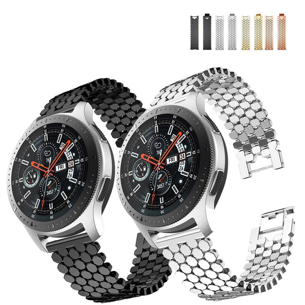 22mm Stainless Steel Watch band  For Samsung  Galaxy 46mm Gear S3 Classic Frontier band Band Bracelet Link Strap